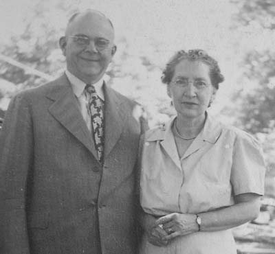 Harry Morton Fitzpatrick, with wife (25 December 1947)